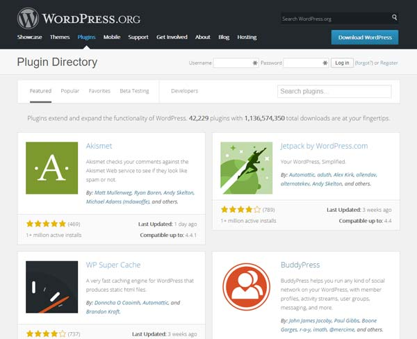 30 populairste wordpress plugins