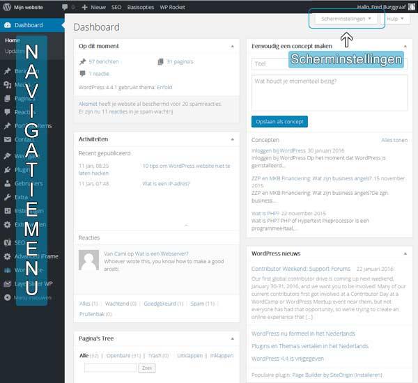 Dashboard-voor-WordPress