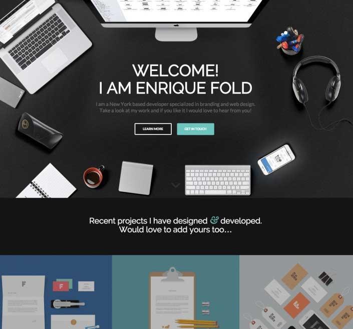 WordPress thema Enfold voorbeeld voor ZZP'er