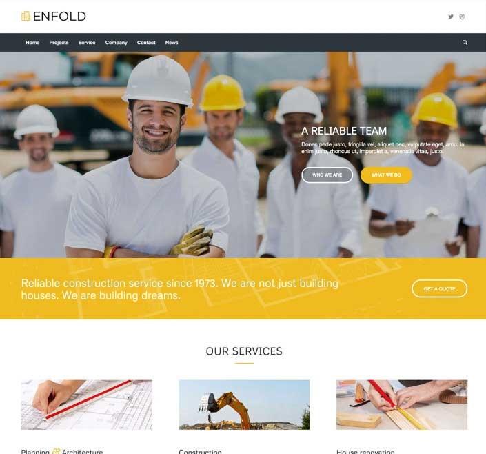 WordPress thema Enfold voorbeeld voor bouw