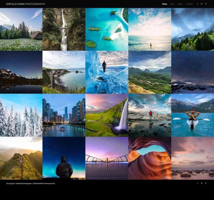 WordPress thema Enfold voorbeeld voor fotograaf