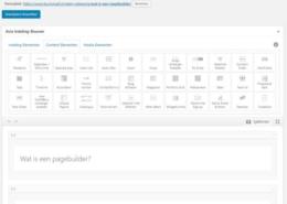 Wat is een pagebuilder?
