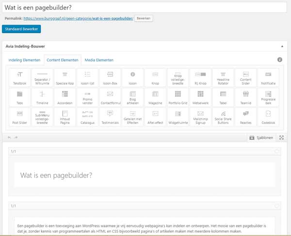 Wat is een pagebuilder?
