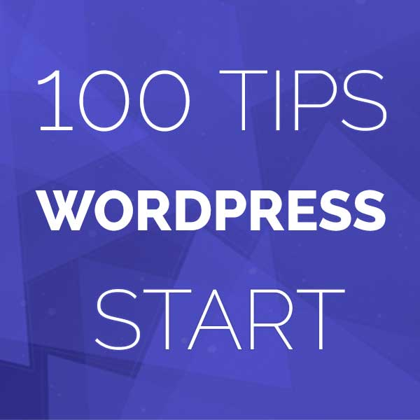 100 tips WordPress website