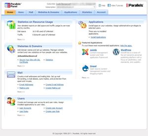 Controlpanel website webhosting