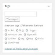 Tips voor tags en keywords